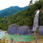 Wisata Air Terjun Bidadari, Bojongkoneng, Sentul dengan Batu Meteor